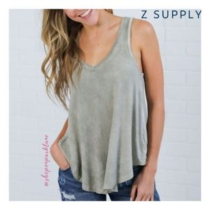 Z Supply Vagabond Tank, Pale Sage Green, Small
